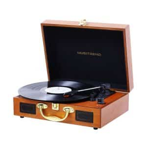 Musitrend Suitcase Record Player with Built-in Speakers