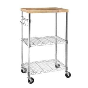 AmazonBasics Microwave Cart on Wheels
