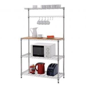 Finnhomy 4-Tiers Adjustable Kitchen Microwave Cart