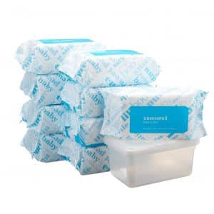 Amazon Elements Unscented Baby Wipes