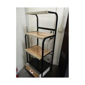 The Furniture Cove Black Microwave Cart