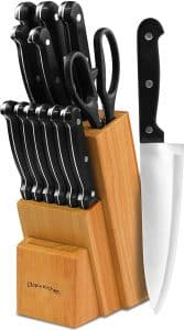 Knife Sets with the Wooden Block 13-Pieces by Utopia Kitchen