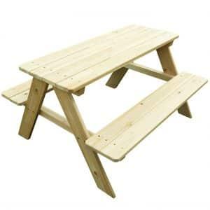 10. Merry Garden Kids Wooden Picnic Bench