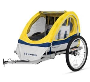 3. Schwinn Echo Child Double Bicycle Trailer