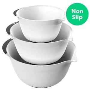 Vremi 3 Piece Plastic Mixing Bowl Set