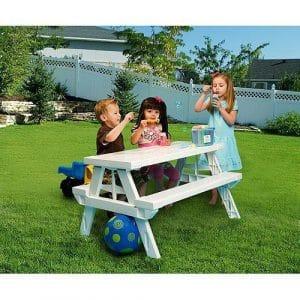 White foldable Children's Picnic Table