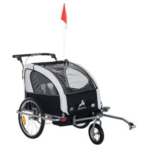 6. Aosom Elite II 3-in-1 Bicycle Trailer