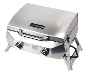SUPERSPACE 2 Burner Stainless Steel Tabletop Propane Gas Grills