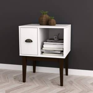 White Table Modern Nightstand