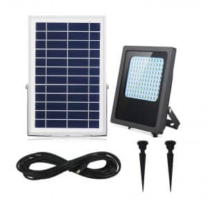 HULPPRE Solar Flood Lights 120Leds 1000Lumen