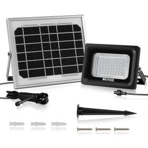 MEIKEE Solar Lights Outdoor LED Flood Lights