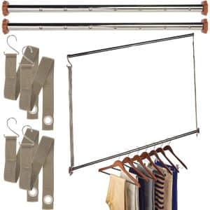 Neatfreak Michael Graves Extendable Closet Hanging Bars