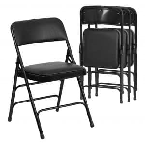 Flash Furniture 4 Pk. Metal Folding HERCULES Series Folding Chair