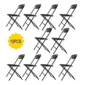 JAXPETY Commercial 10-PACK Plastic Folding Chairs