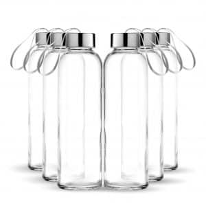 Chef's Star Glass Water Bottle