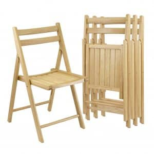 Winsome Wood Set of 4 Chairs, Natural Finish