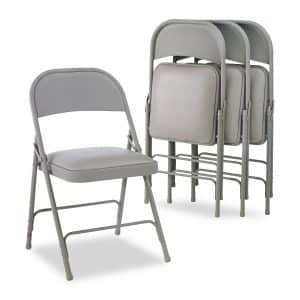 Alera ALEFC94VY40LG Padded Seat Steel Folding Chair