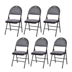 Giantex Six-Pack Metal Frame Folding Chair for Party Use