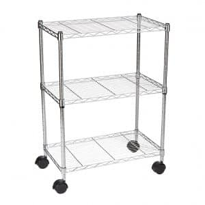AmazonBasics 3-Shelf Rolling Cart