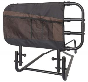 Stander EZ Adjust and Pivoting Bed Rails with Pouch