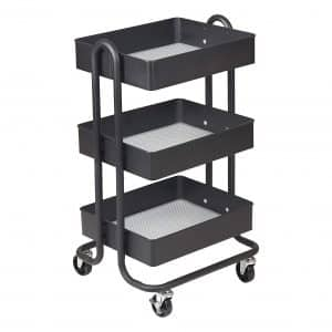 ECR4Kids 3-Tier Metal Rolling Cart