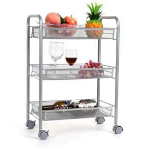 Homfa 3-Tier Multifunctional Rolling Cart
