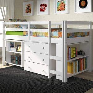 Donco Kids 760-W Low Study Loft Bed