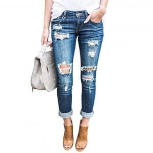 Ermonn Denim Jeans Women Distressed