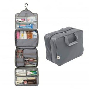 Extra Large Hanging Toiletry Bag With Customizable Storage