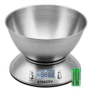 Etekcity Digital Kitchen Scale .15L Liquid Volume Multifunction Food Scale