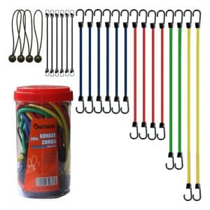 Cartman 24 Piece Bungee Cords with Assortment Jar