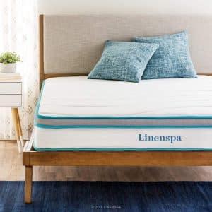 LINENSPA Memory Foam 8 Inch Twin Innerspring Hybrid Mattress