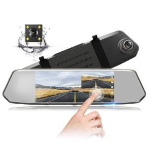 "TOGUARD Backup Camera 7""Screen Mirror Dash Cam"