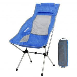 MARCHWAY Lightweight Folding Camping Chair with a Headrest