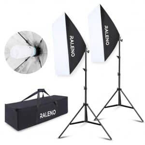 RALENO Softbox Photography Lighting Kit