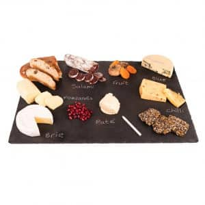 Stone Age Slate Cheese Boards with a Soap Stone Chalk