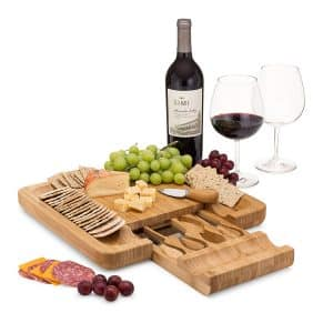 Artisware Bamboo Cheese Board with Serving Utensils