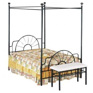 ACME 02084F Sunburst Full Canopy Bed