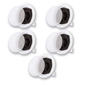 Acoustic Audio 5-Speaker Set In-Wall Speaker