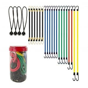 EFFICERE Best Choice Premium 24-Piece Bungee Cord