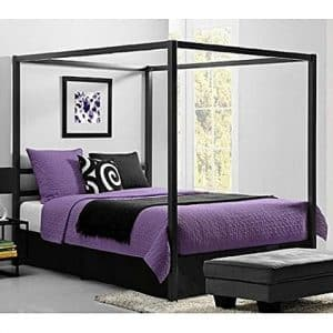 Bakersfield European-Style Metal Canopy Bed