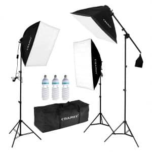 CRAPHY Professional Photo Studio Soft Box Lights