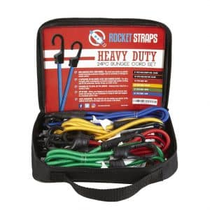 ROCKET STRAPS Heavy Duty 24PC Bungee Cords With Hooks