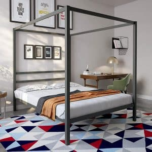 Royale Modern Linens Canopy Bed