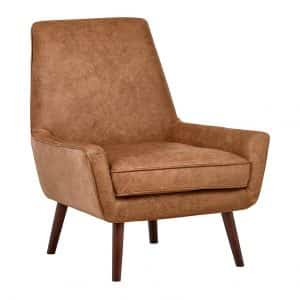Rivet Leather Accent Chairs