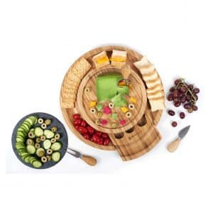 Shanik Cheese Cutting Board with Cutlery Slide-Out Drawer
