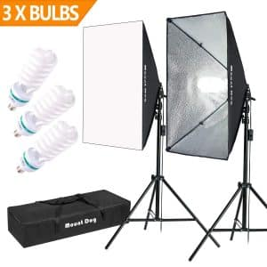 MOUNTDOG 1350W Photography Softbox Lighting Kit