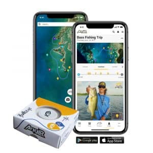 ANGLR Bullseye Apparel Clip and Free Fishing GPS App Fishing Tracker