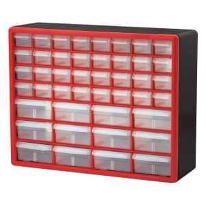 Akro-Mils 10144REDBLK Plastic Cabinet