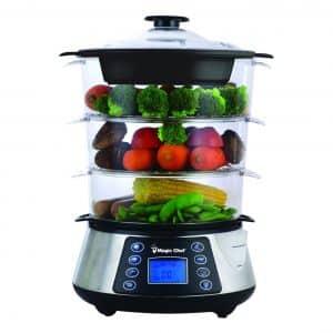 Magic Chef MCSFS12ST 3 Tier Food Steamer